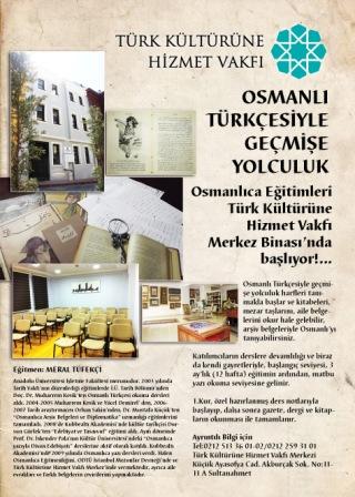 Osmanlı Türkçesi Eğitimlerimiz Başlıyor (Eski Türkçe)