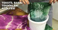 Yeni Bölümümüz Tekstil Baskı Teknikleri Eğitimlerimiz Başlıyor